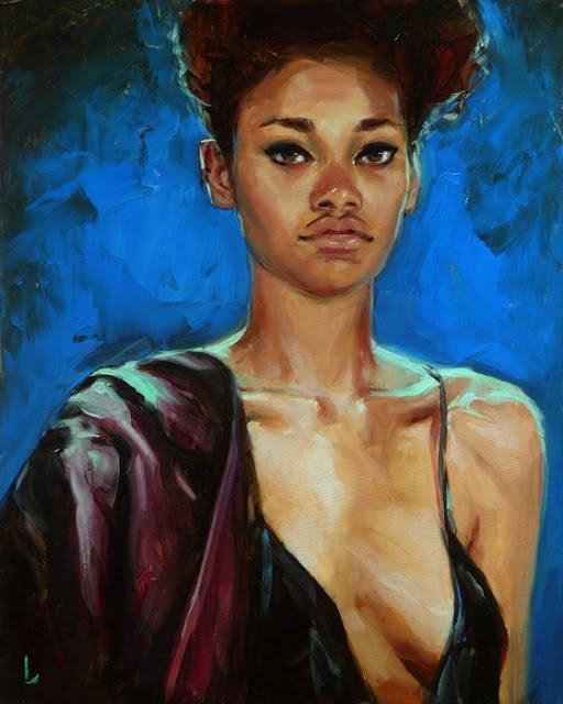 """Sapphire Night"" original fine art by John Larriva"