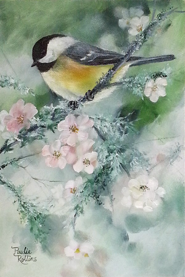 """Mossy Blooms"" original fine art by Paulie Rollins"