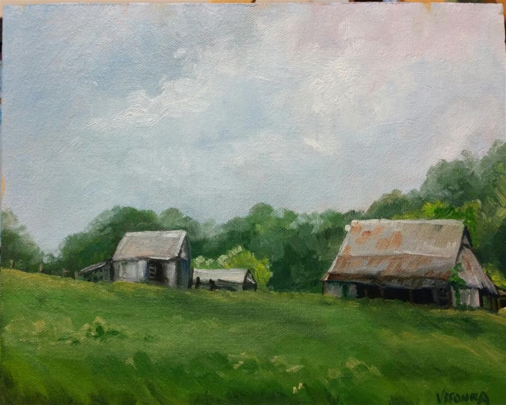 """""""Bay Farm-en plein air"""" original fine art by Veronica Brown"""