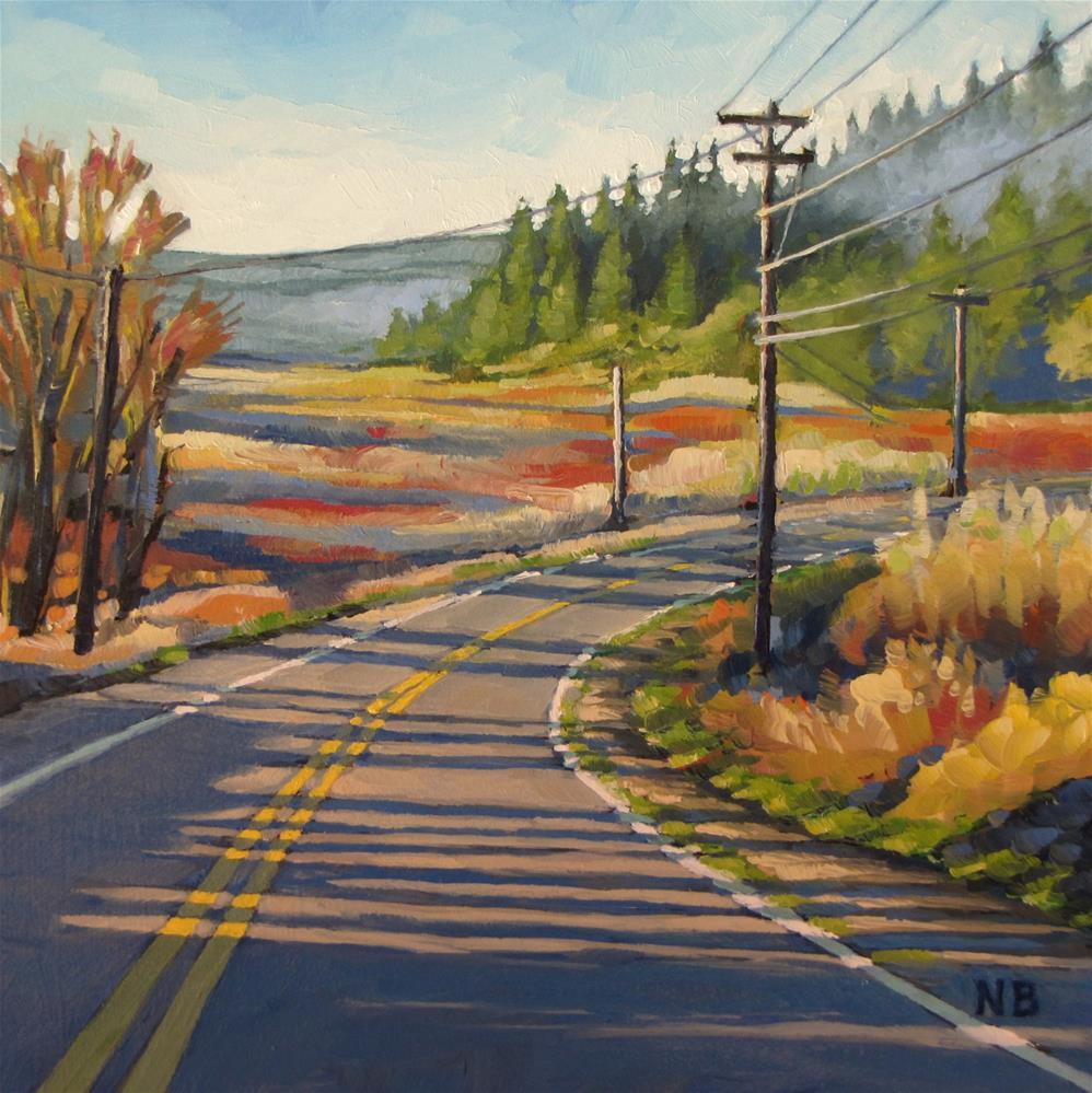"""Long Morning Light"" original fine art by Nora Bergman"