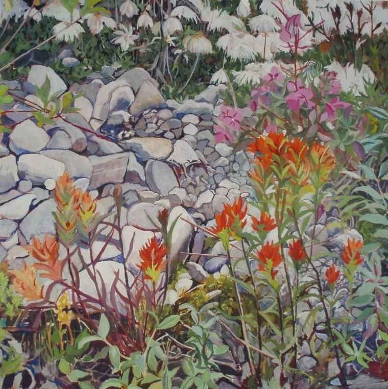 """""""Flowers at Reid"""" original fine art by Carole Baker"""