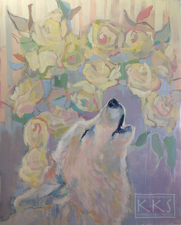 """Arctic Roses"" original fine art by Kimberly Santini"