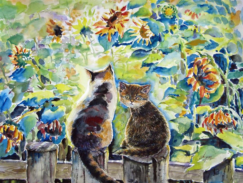 """""""Who are you?"""" original fine art by Wenqing Xu"""