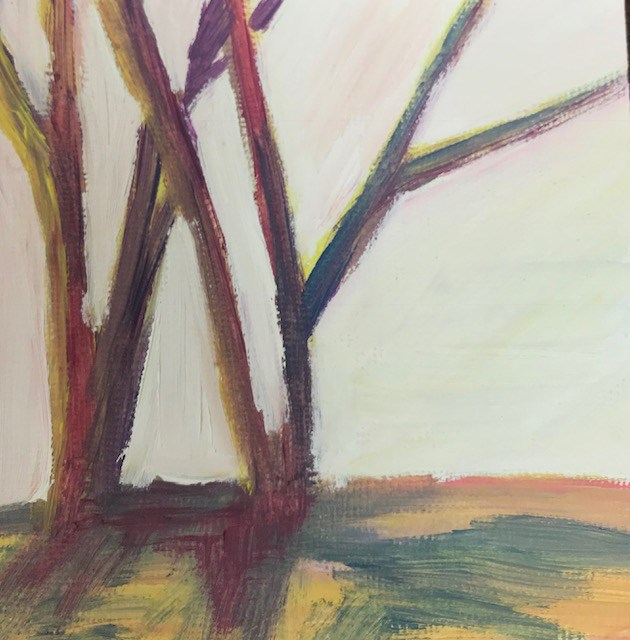 """Florida sunset in the trees again"" original fine art by Angela Hansen"