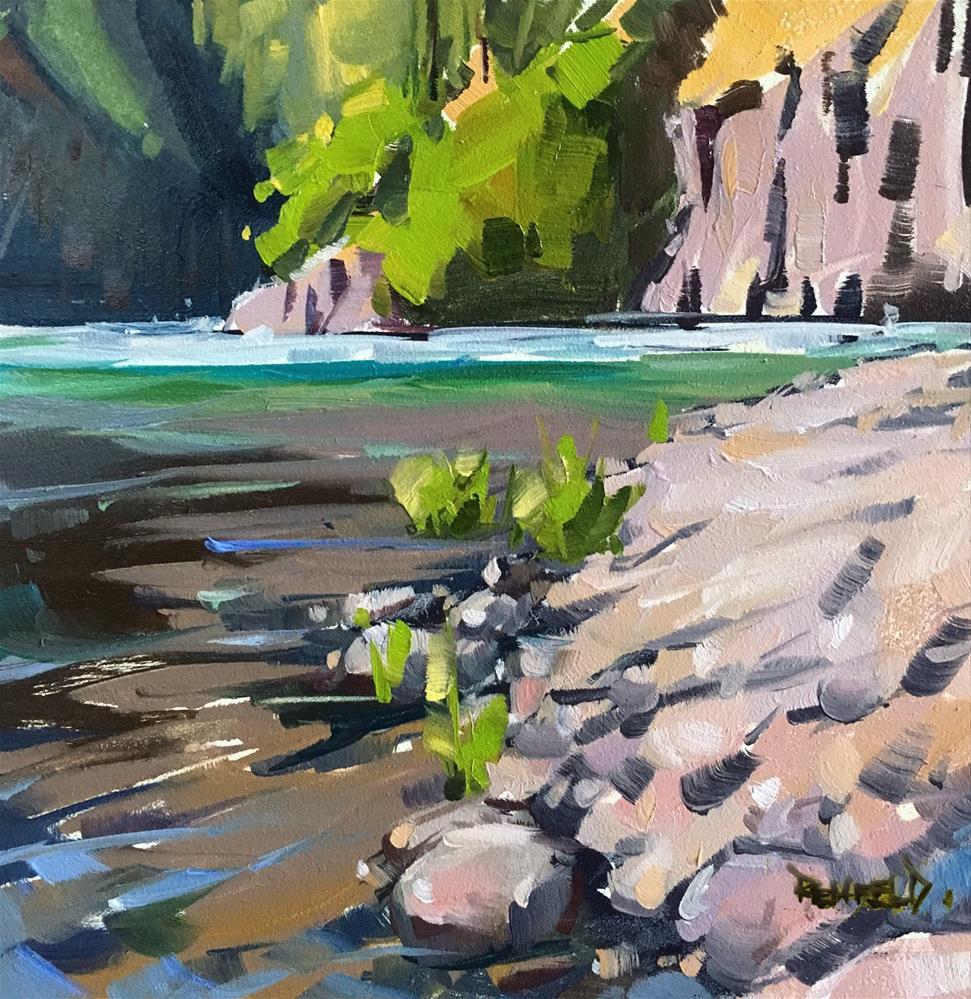 """Punchbowl Falls Canyon"" original fine art by Cathleen Rehfeld"