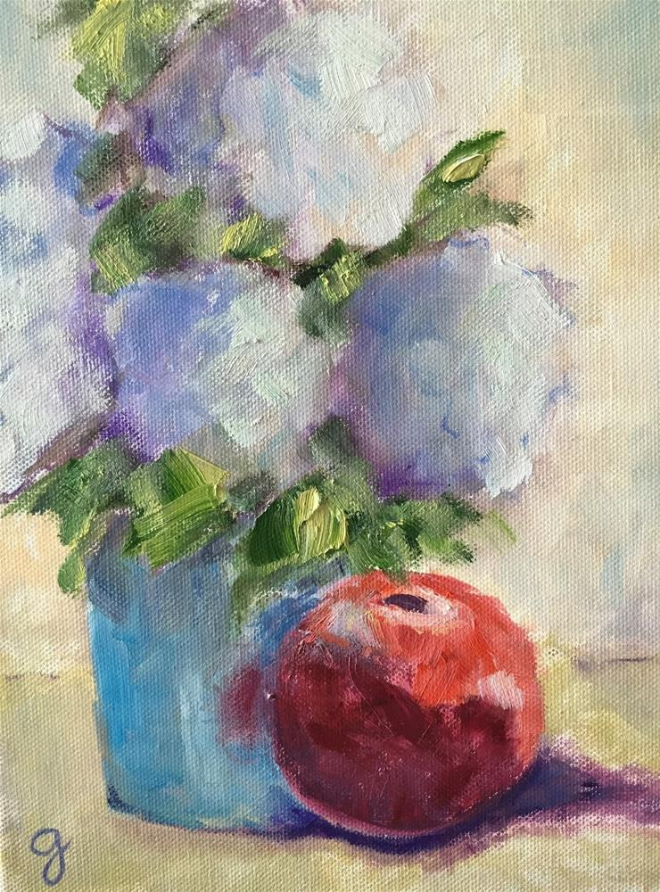 """Hydrangeas"" original fine art by Gayle Lambeth"