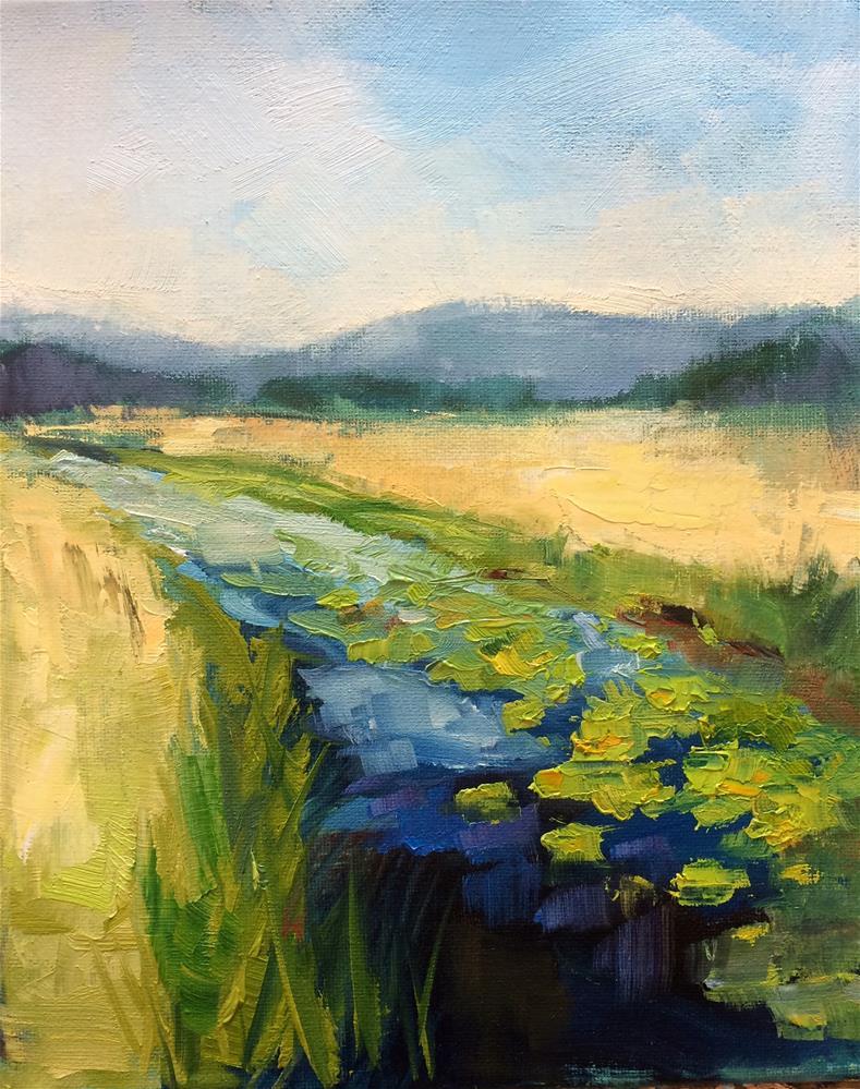 """Water Lilies"" original fine art by Naomi Bautista"