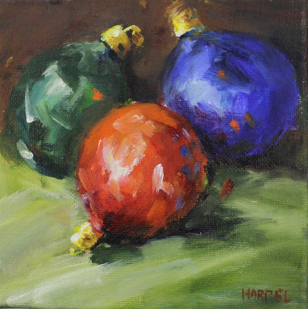 """Christmas holiday bulb"" original fine art by Alice Harpel"
