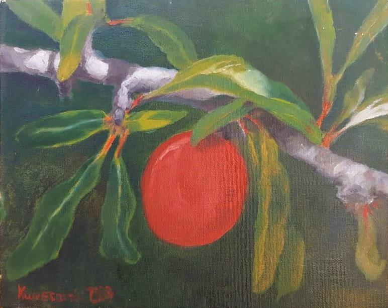 """red fruit"" original fine art by Konstantia Karletsa"
