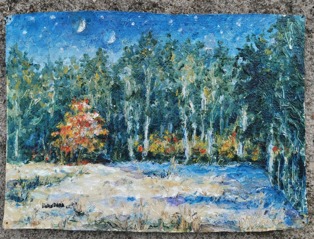"""""""Two Moons of Autumn """" original fine art by Alexandra Cook"""