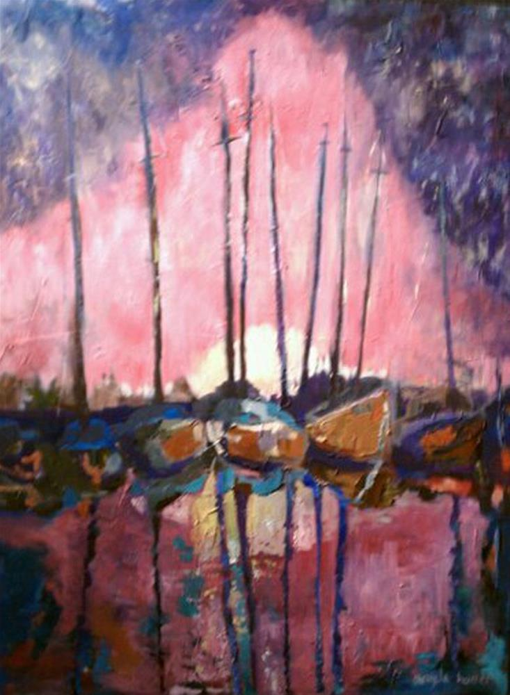 """Pierside Sun"" original fine art by Angela Hansen"