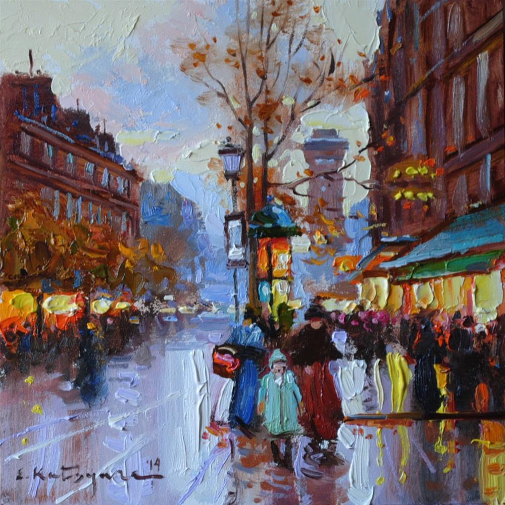 """Evening Lights"" original fine art by Elena Katsyura"