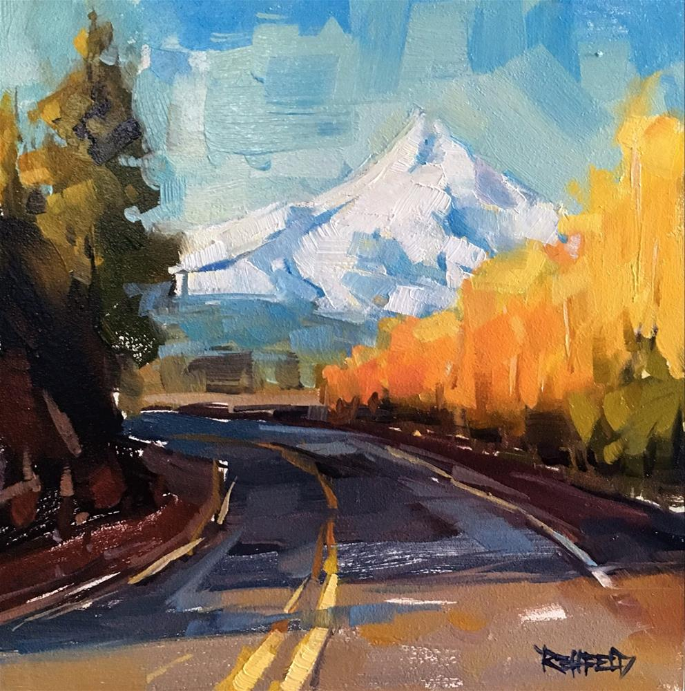 """What's Around The Bend"" original fine art by Cathleen Rehfeld"