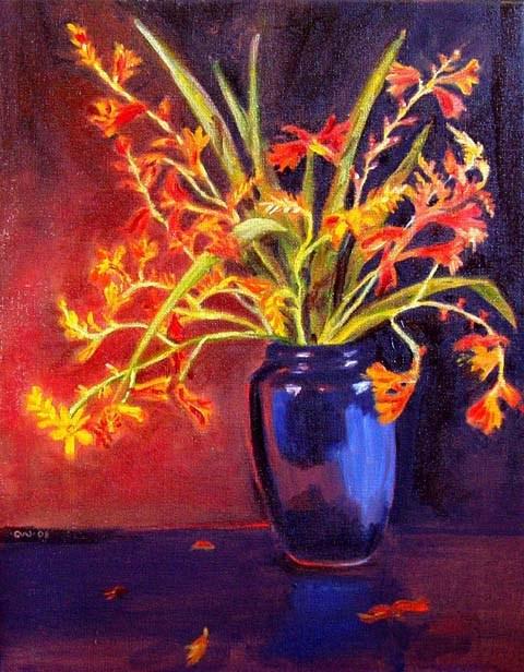 """""""Fire King"""" original fine art by Cietha Wilson"""