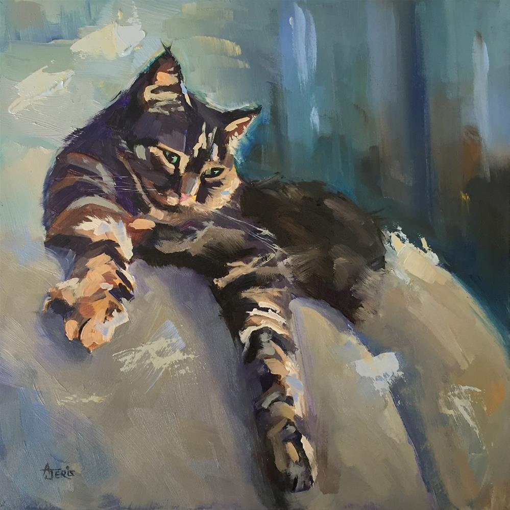 """""""Surveying Her Subjects"""" original fine art by Andrea Jeris"""