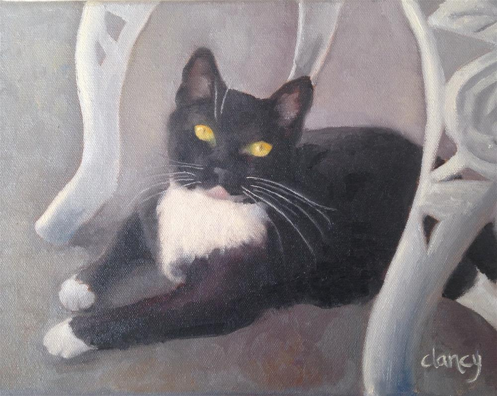 """Oreo"" original fine art by Catherine Clancy"