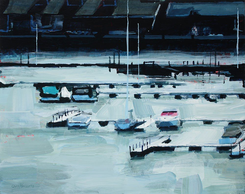 """Boats and Condos"" original fine art by Chris Breier"