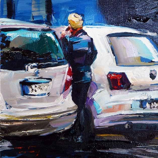 """Call"" original fine art by Jurij Frey"