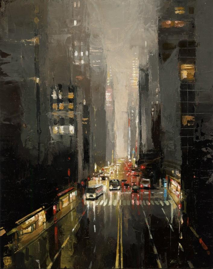 """""""42nd STREET"""" original fine art by Victor Bauer"""