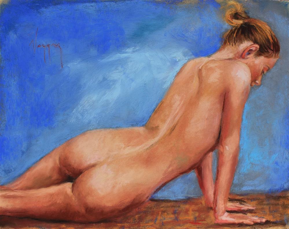 """Female nude (like an angel)"" original fine art by Marco Vazquez"