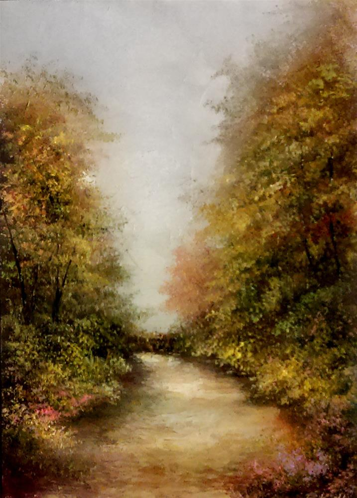 """The Long Path"" original fine art by Bob Kimball"