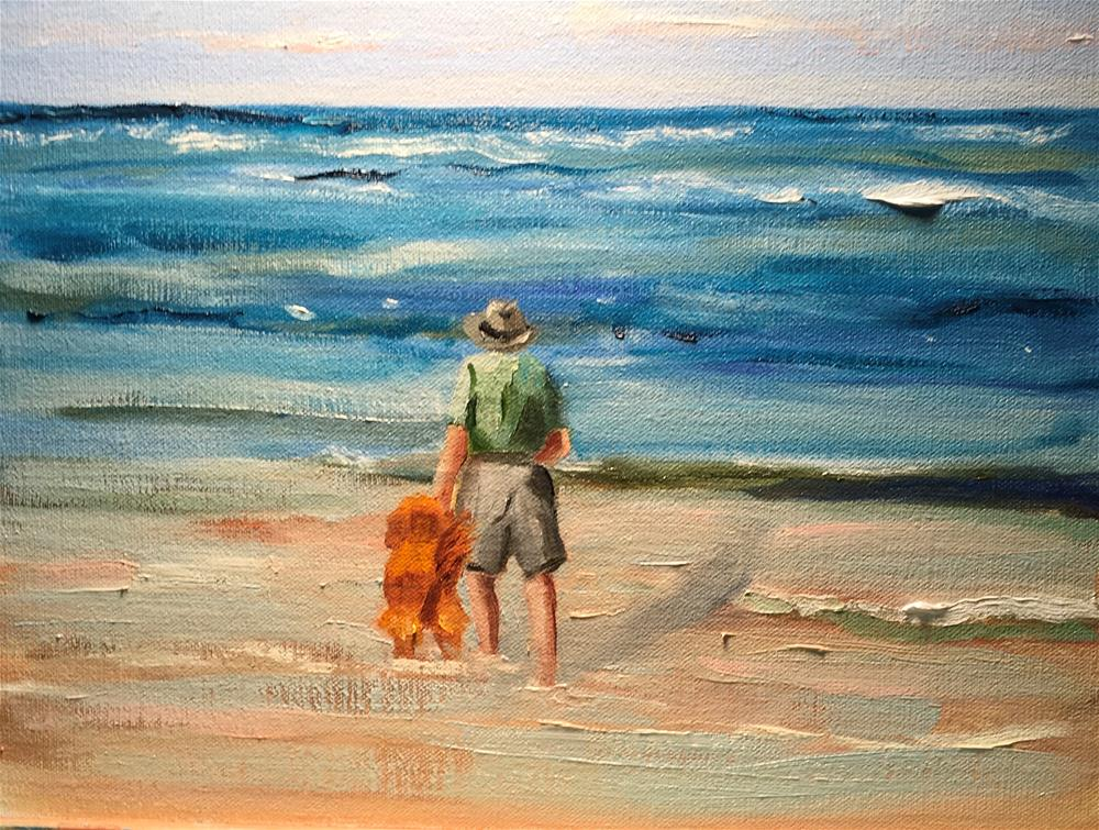 """George and the Dog"" original fine art by Patty Barnes"