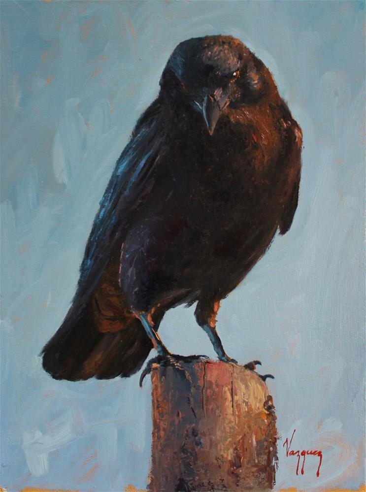 """""""Raven"""" original fine art by Marco Vazquez"""