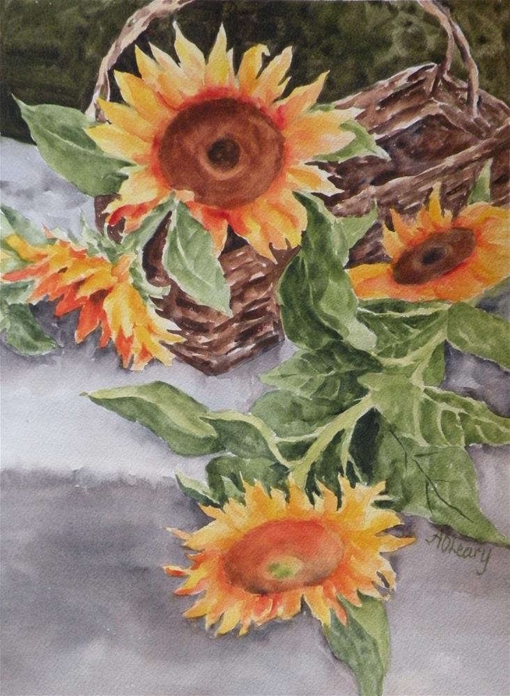 """Basketful of Sunshine"" original fine art by Alice O'Leary"