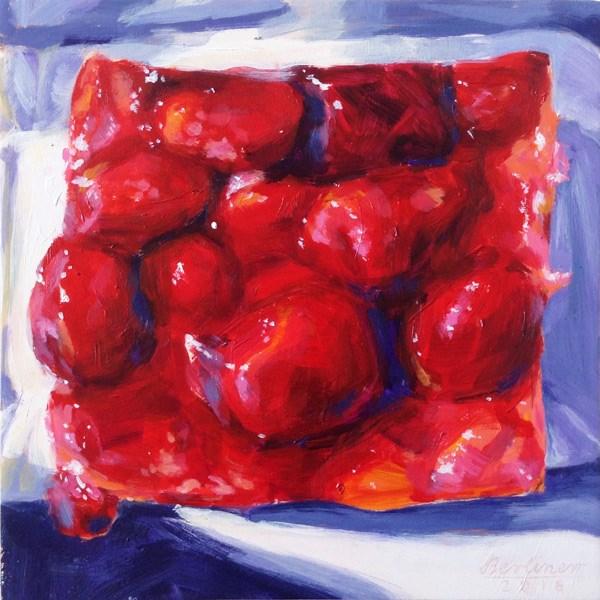 """""""074 Himbeerkuchen"""" original fine art by Anja Berliner"""