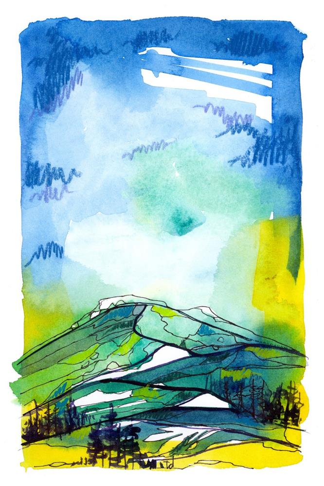 """Ketchum Spring"" original fine art by Tonya Doughty"