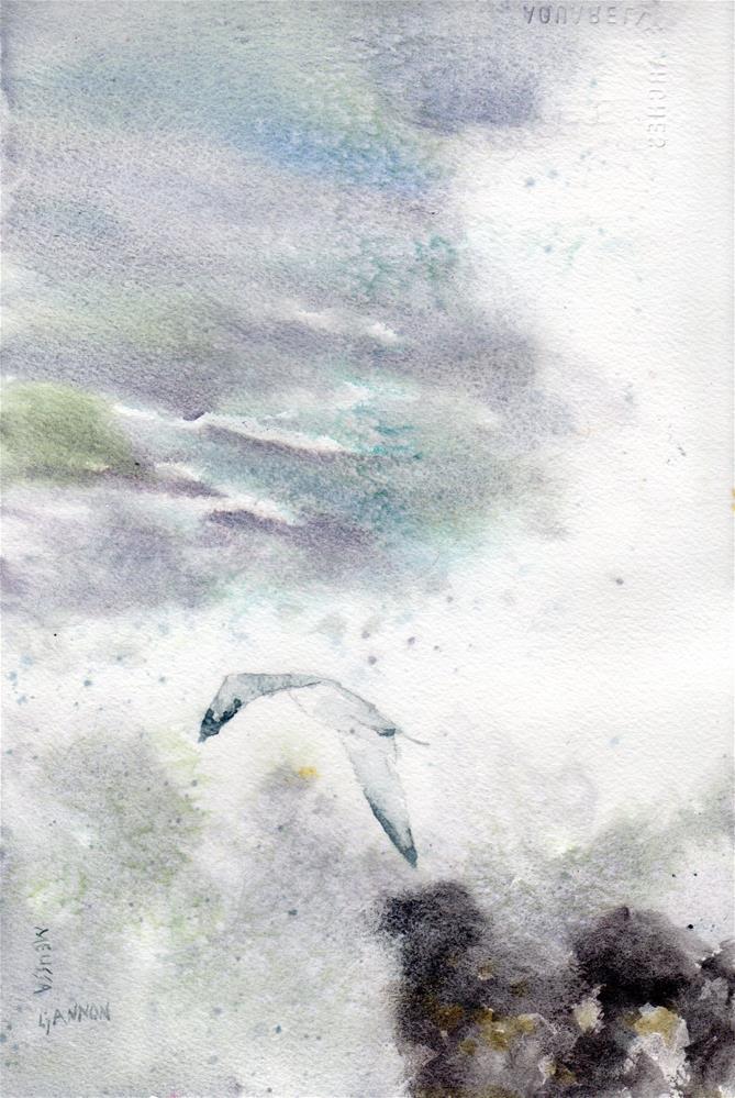 """Daring the Waves"" original fine art by Melissa Gannon"