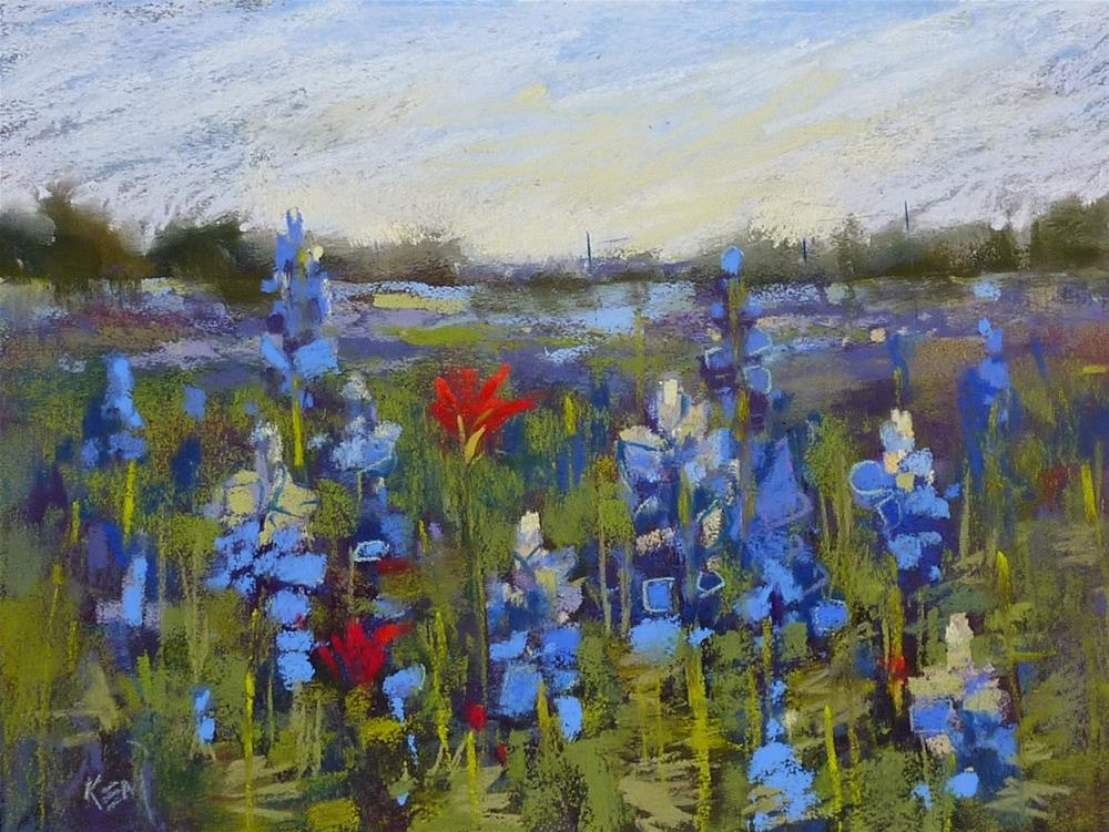 """Would You Like to Paint Bluebonnets?"" original fine art by Karen Margulis"