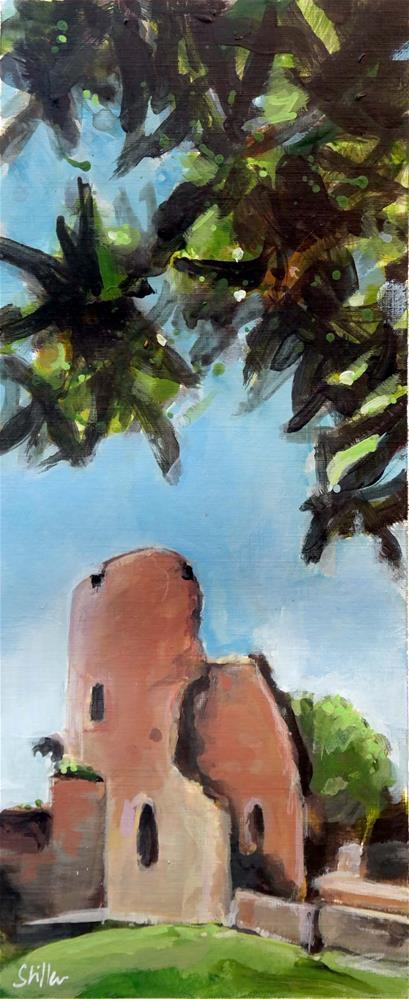 """""""2199 The Castle Ruins of Krukenburg"""" original fine art by Dietmar Stiller"""