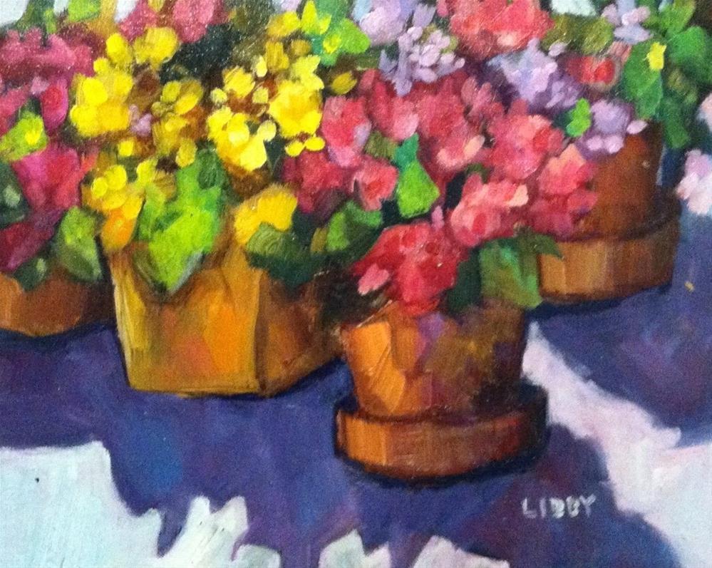 """Flower  Row"" original fine art by Libby Anderson"
