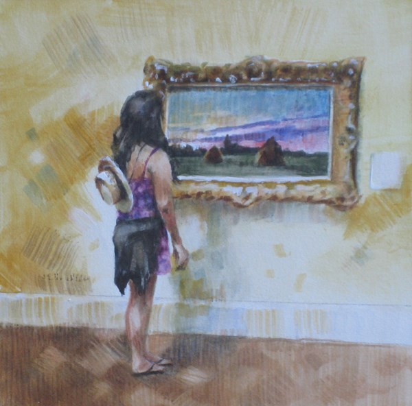 """Mesmerized by Monet"" original fine art by Ginger Pena"