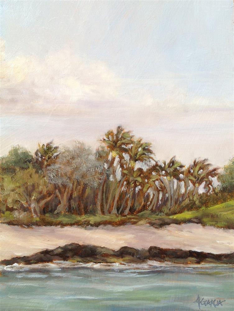 """Palms at Puako"" original fine art by Jeannie Garcia"