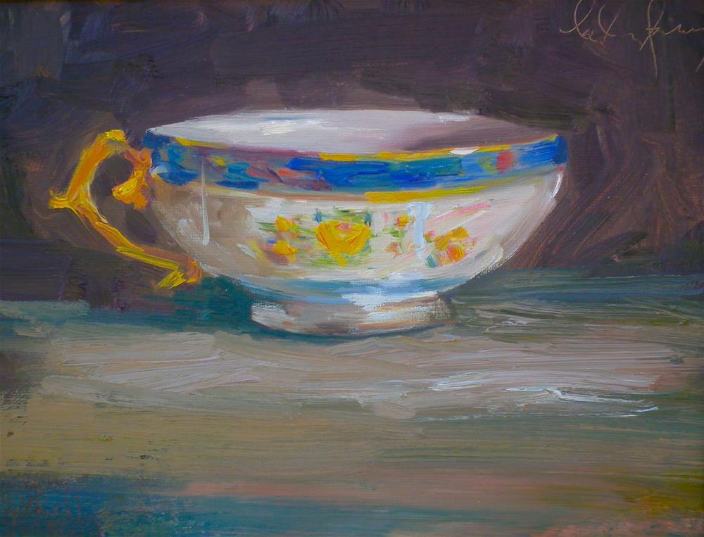 """Gran's Teacup"" original fine art by kay  keyes farrar"