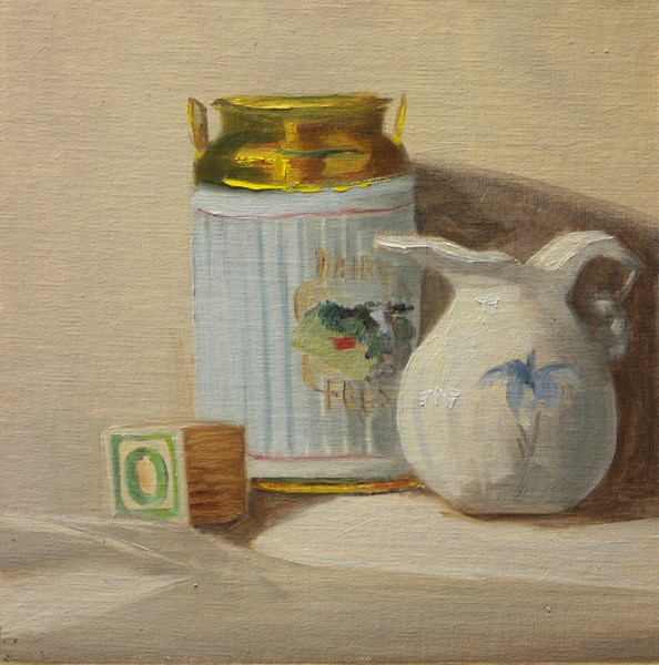 """""""Block Can and Jug"""" original fine art by Jane Frederick"""