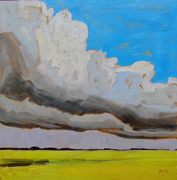 """Blue Corner"" original fine art by Nicki Ault"