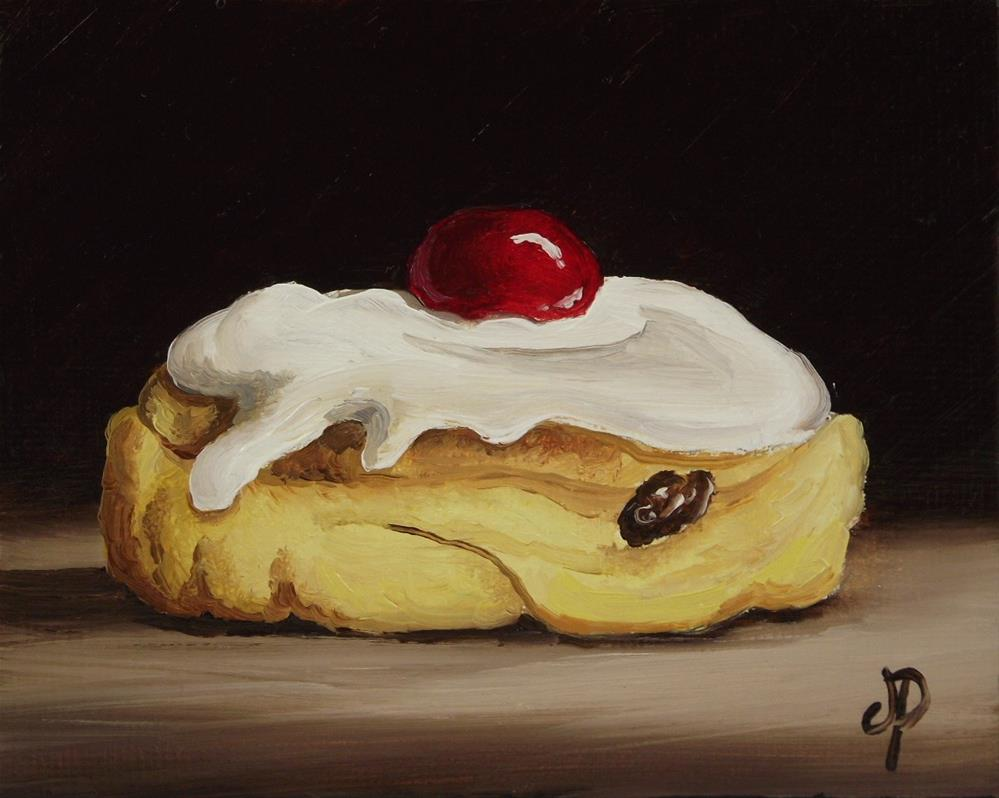 """Little Iced Bun"" original fine art by Jane Palmer"