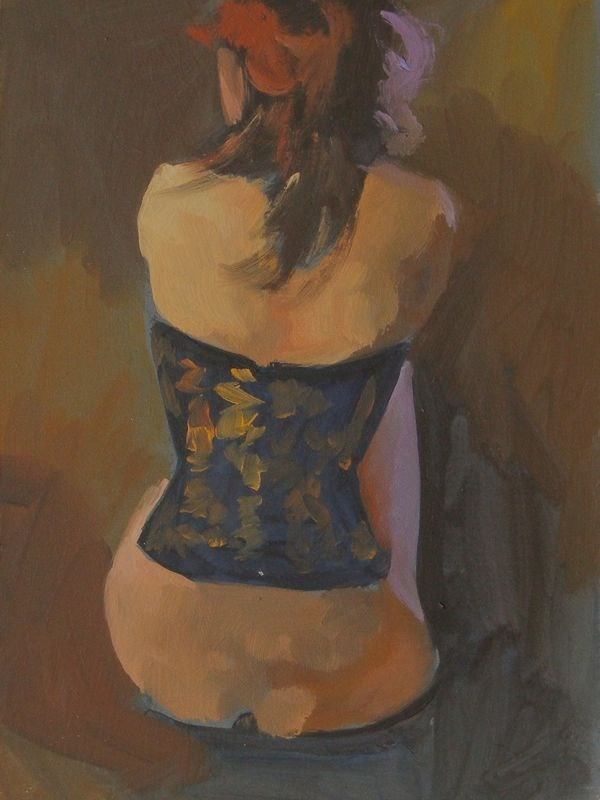 """Corset back"" original fine art by Peter Orrock"