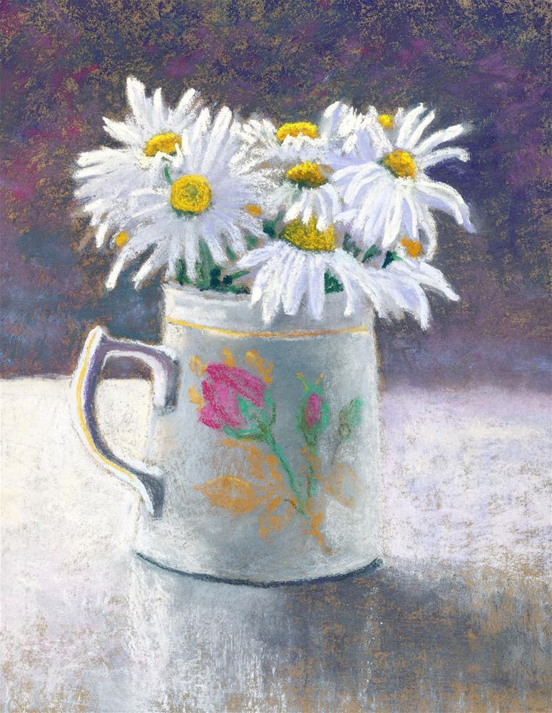 """""""Sunlit Daisies"""" original fine art by Christine Derrick"""
