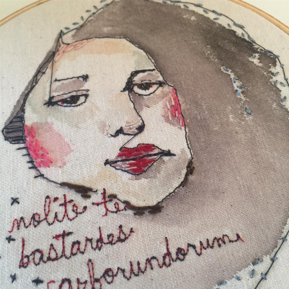 """498FM Nolite te bastardes carborundorum"" original fine art by Jenny Doh"