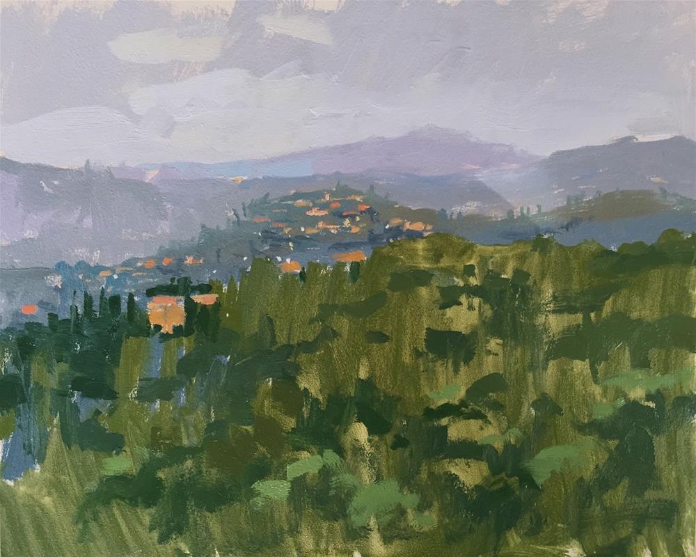 """""""A glimpse of Montegabbione"""" original fine art by Haidee-Jo Summers ROI"""