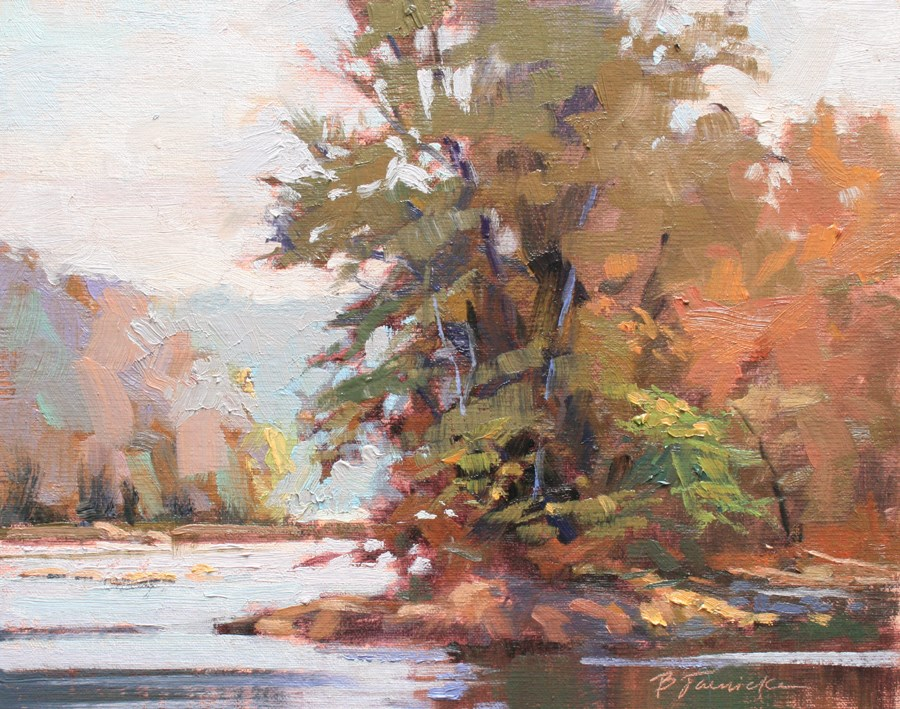 """Sunlit River"" original fine art by Barbara Jaenicke"
