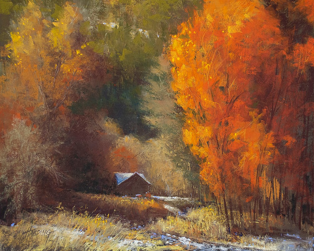 """""""First Snow Morning in Carbondale"""" original fine art by Dale Harding"""