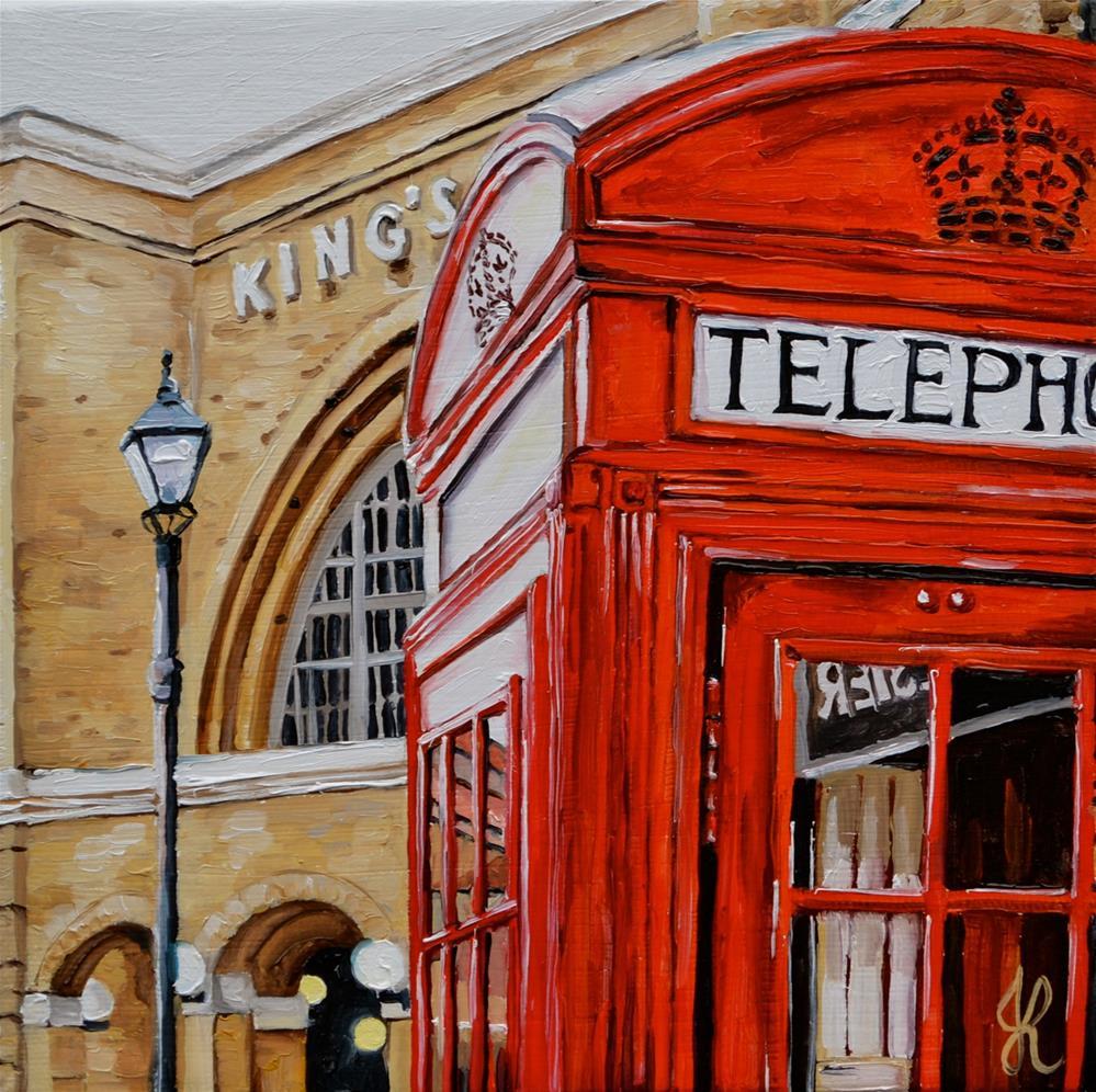 """In front of King's Cross"" original fine art by Jacinthe Rivard"