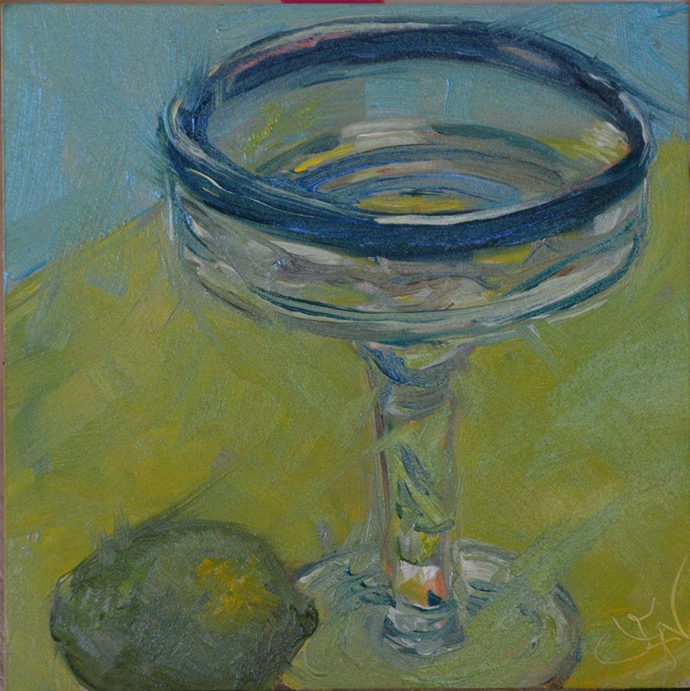 """Lime On"" original fine art by Jan Jackson"