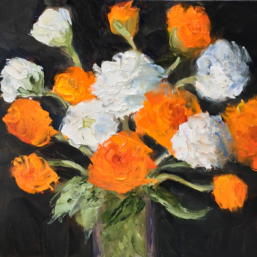 """#135 - Ranunculus"" original fine art by Sara Gray"