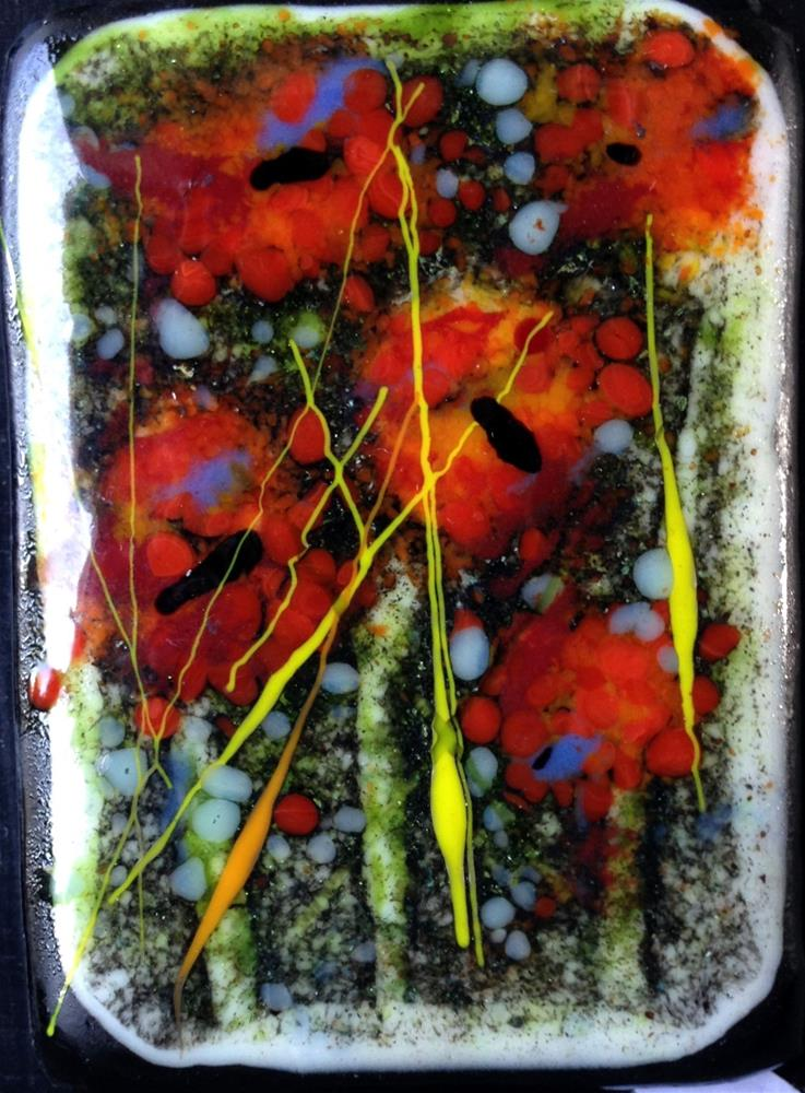 """Poppy Forest"" original fine art by Kristen Dukat"